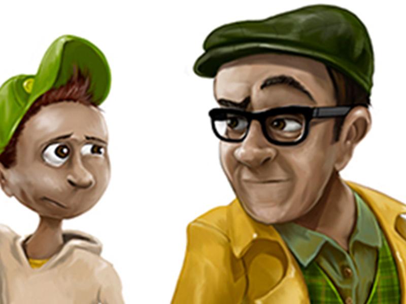 Digitaalinen kuvitus kirjailija Ilkka Mattilan nuortenkirja Mysteerinmurtajat hahmot.