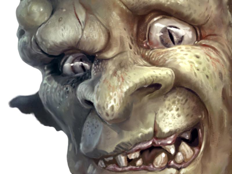 Digitaalinen hahmo kuvitus aiheena fiktiivinen fantasia peikko.
