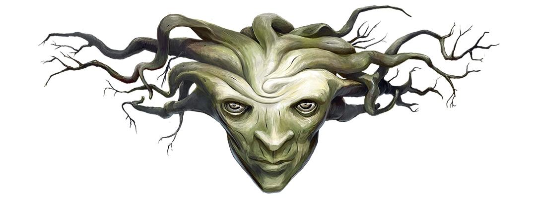 Digitaalinen kuvitus aiheena fiktiivinen mytologian hahmo.