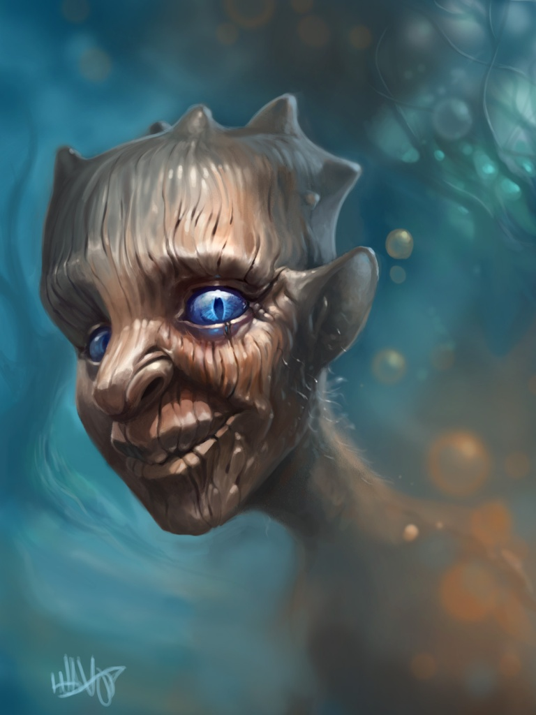 digital illustration of a friendly fantasy character